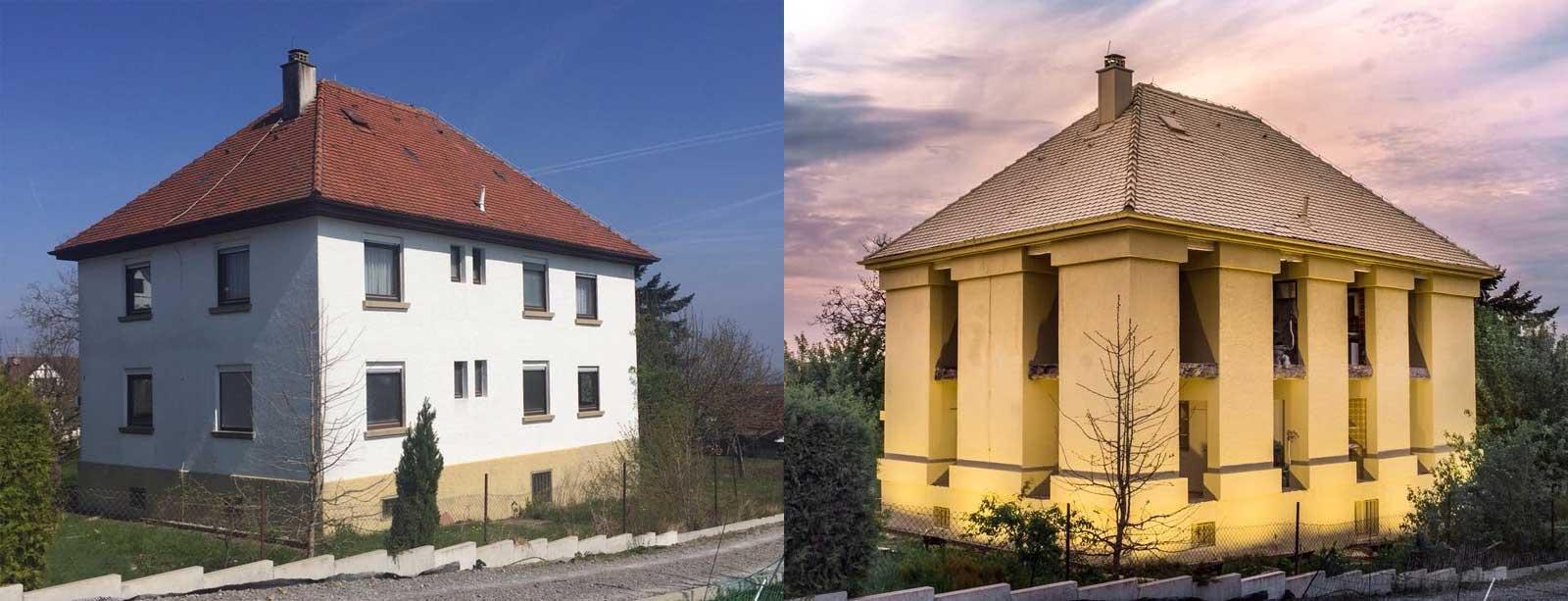Das perfekte Elternhaus von dem Künstler Andreas Sarow