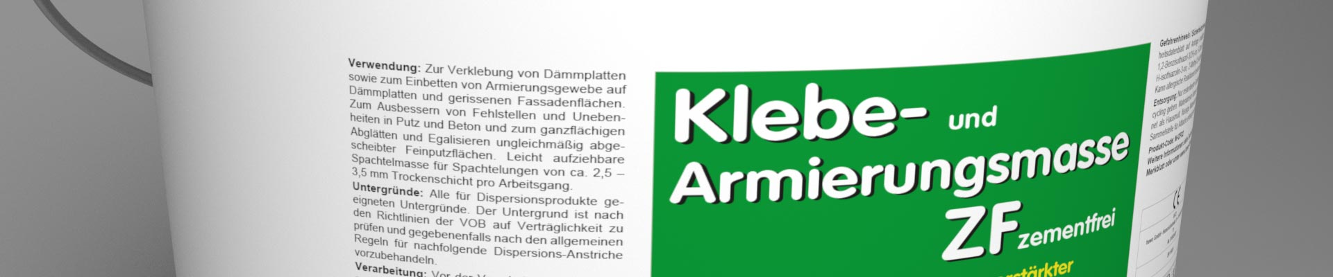 hawo Klebe- und Armierungsmasse ZF zementfrei Banner