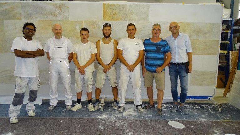 Workshop Steinoptik auf WDVS