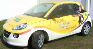 Opel Adam als Werbemittel