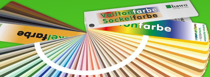 hawo Vollton- und Sockelfarben Fächer
