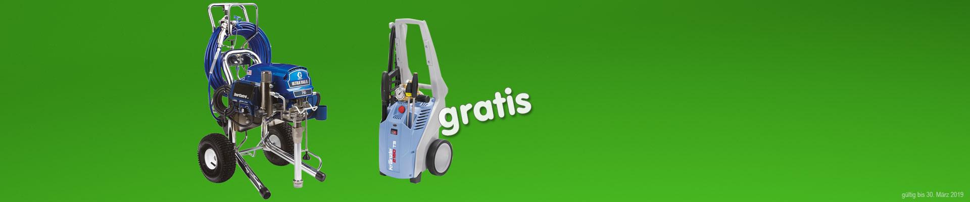 Aktion Graco 795 mit Kränzle K 2160 TST mit Schmutzkiller