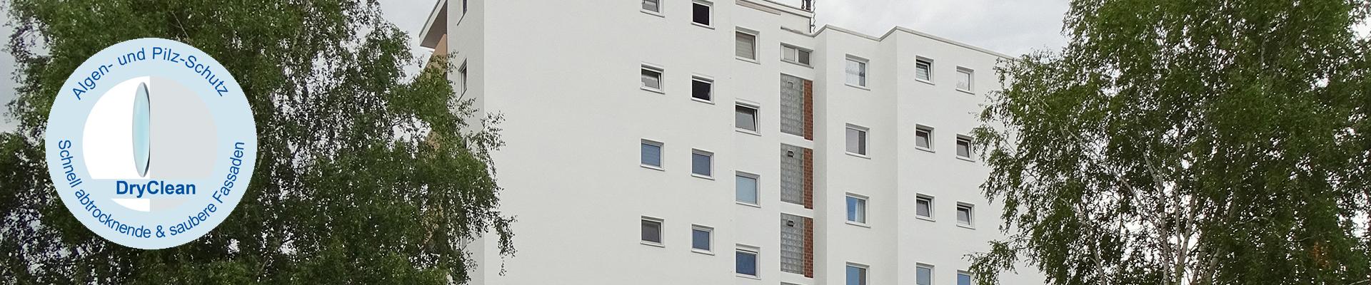 Schnell abtrocknende & saubere Fassaden – DryClean Fassadenfarbe