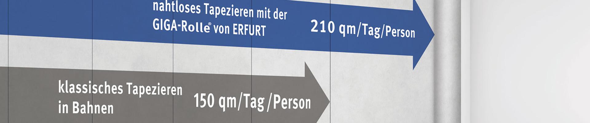 Erfurt GIGA-Rolle – Große Flächen schnell und nahtlos tapezieren