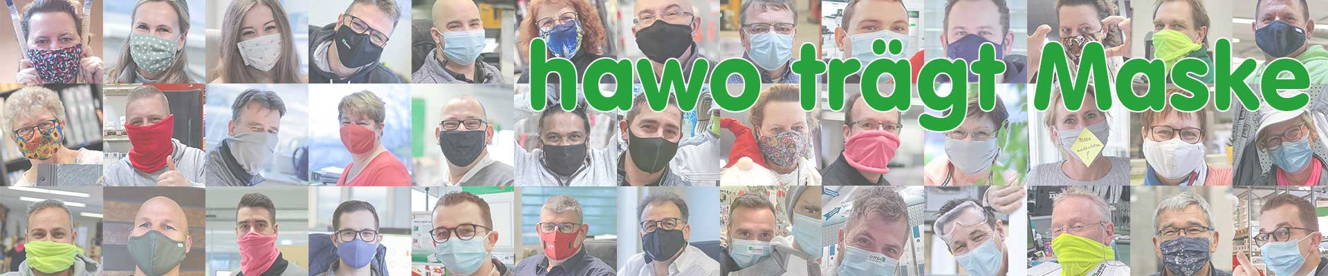 hawo trägt Maske