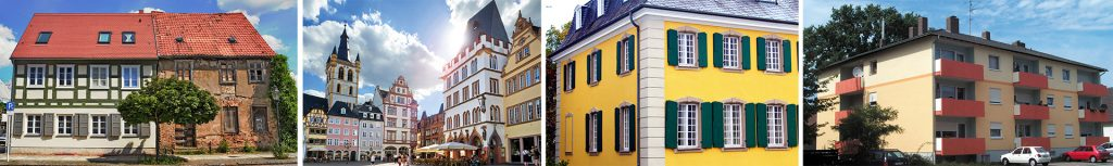 Kollage Objekte Silikat Fassadenfarben