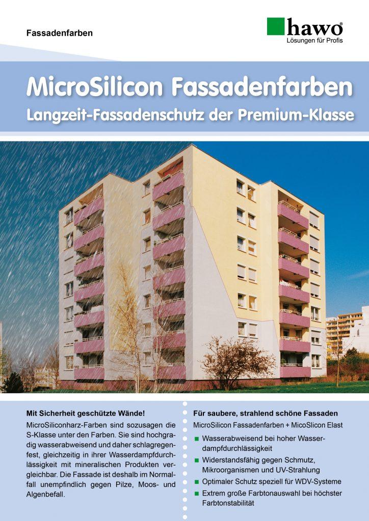 MicroSilicon Fassadenfarben Flyer